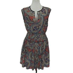 J. Crew Silk Paisley Smocked Waisted Dress